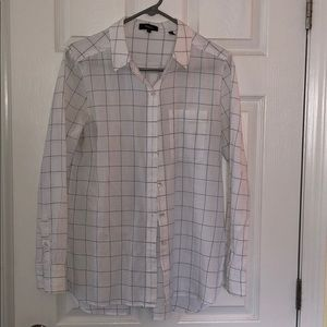Theory Striped Pattern Button Down
